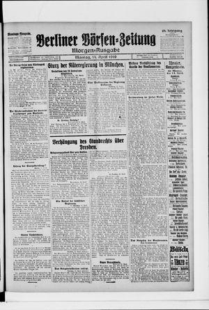 Berliner Börsen-Zeitung vom 14.04.1919