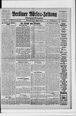 Berliner Börsen-Zeitung vom 15.04.1919