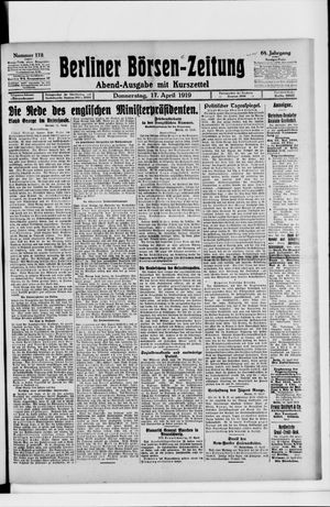 Berliner Börsen-Zeitung vom 17.04.1919