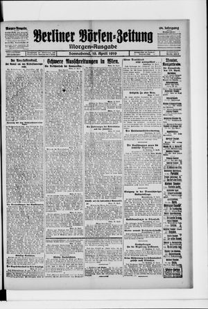 Berliner Börsen-Zeitung on Apr 19, 1919
