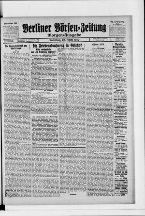 Berliner Börsen-Zeitung vom 20.04.1919