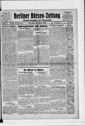 Berliner Börsen-Zeitung vom 22.04.1919