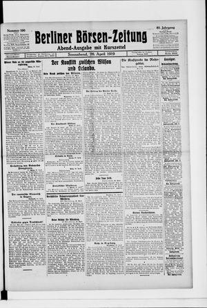 Berliner Börsen-Zeitung vom 26.04.1919