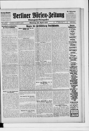 Berliner Börsen-Zeitung vom 28.04.1919