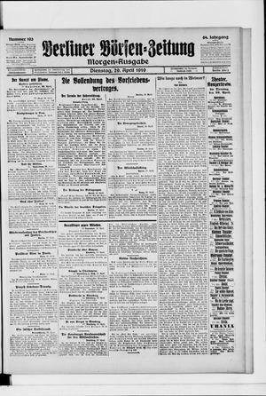 Berliner Börsen-Zeitung vom 29.04.1919