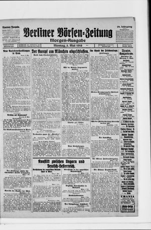 Berliner Börsen-Zeitung vom 05.05.1919