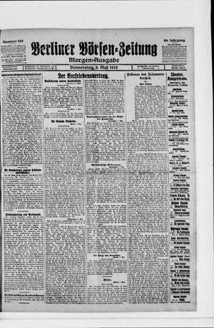 Berliner Börsen-Zeitung vom 08.05.1919