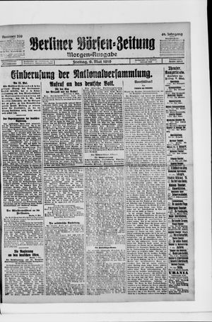 Berliner Börsen-Zeitung vom 09.05.1919