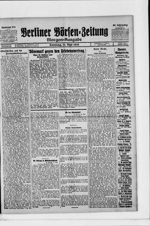 Berliner Börsen-Zeitung vom 11.05.1919