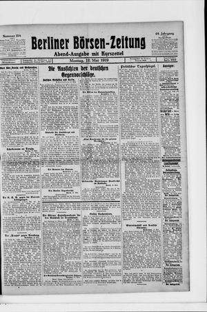 Berliner Börsen-Zeitung vom 12.05.1919