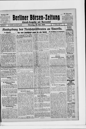 Berliner Börsen-Zeitung vom 13.05.1919