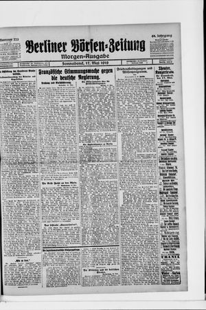 Berliner Börsen-Zeitung vom 17.05.1919