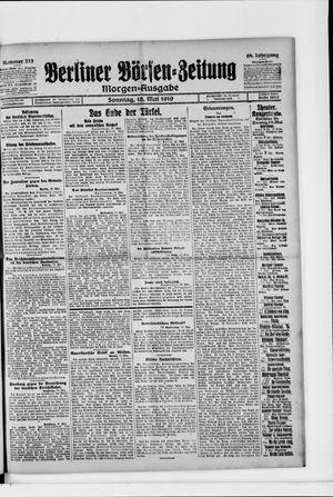 Berliner Börsen-Zeitung vom 18.05.1919