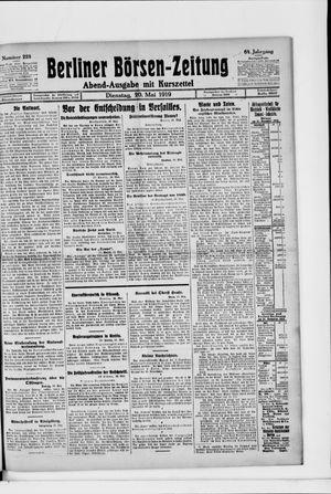 Berliner Börsen-Zeitung vom 20.05.1919