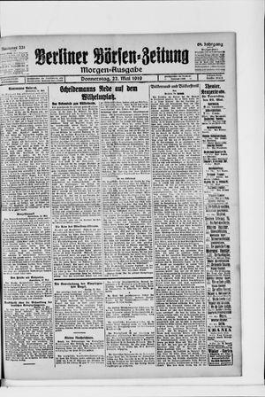 Berliner Börsen-Zeitung vom 22.05.1919