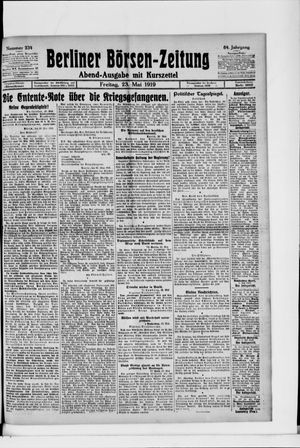 Berliner Börsen-Zeitung vom 23.05.1919