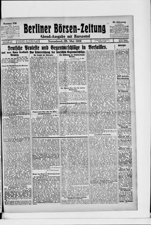 Berliner Börsen-Zeitung vom 24.05.1919