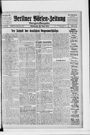 Berliner Börsen-Zeitung vom 28.05.1919