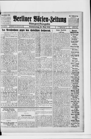 Berliner Börsen-Zeitung vom 29.05.1919