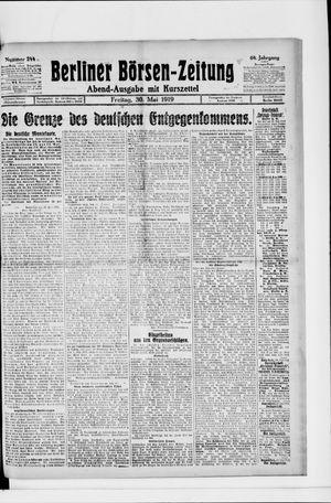 Berliner Börsen-Zeitung vom 30.05.1919