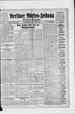 Berliner Börsen-Zeitung vom 31.05.1919