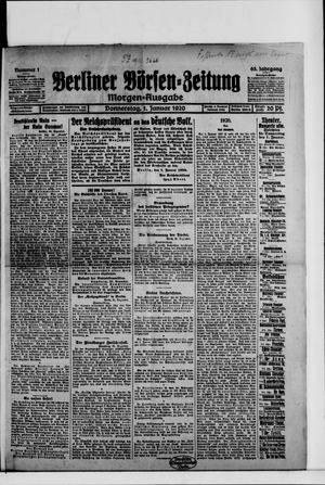 Berliner Börsen-Zeitung vom 01.01.1920