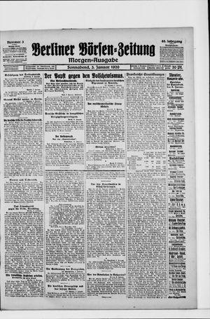 Berliner Börsen-Zeitung vom 03.01.1920