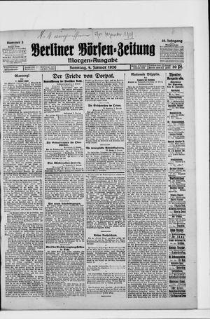 Berliner Börsen-Zeitung vom 04.01.1920