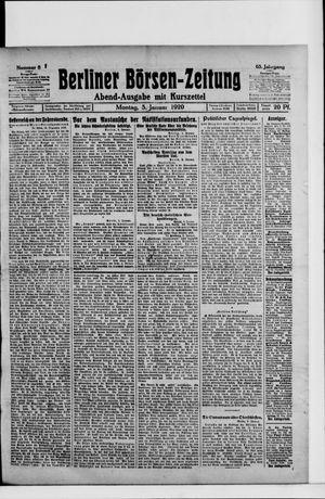 Berliner Börsen-Zeitung vom 05.01.1920