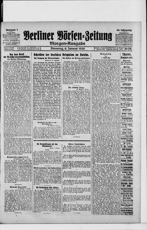 Berliner Börsen-Zeitung vom 06.01.1920