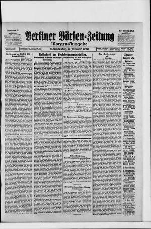 Berliner Börsen-Zeitung vom 08.01.1920