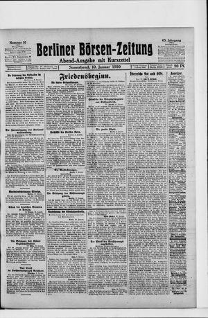 Berliner Börsen-Zeitung on Jan 10, 1920