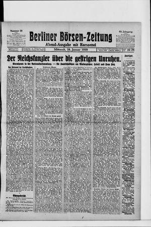 Berliner Börsen-Zeitung vom 14.01.1920