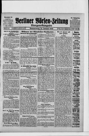 Berliner Börsen-Zeitung vom 15.01.1920