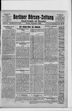 Berliner Börsen-Zeitung vom 16.01.1920