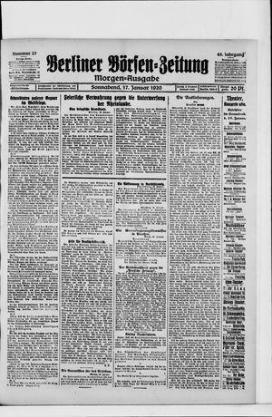 Berliner Börsen-Zeitung vom 17.01.1920