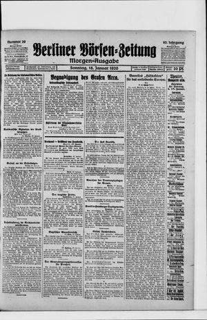 Berliner Börsen-Zeitung vom 18.01.1920
