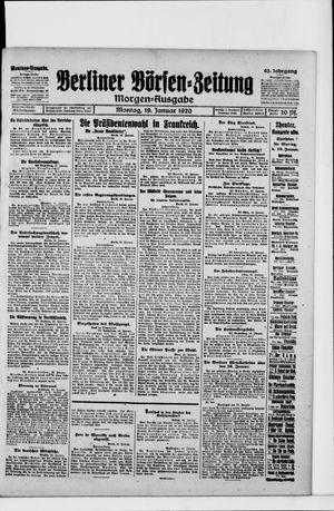 Berliner Börsen-Zeitung vom 19.01.1920