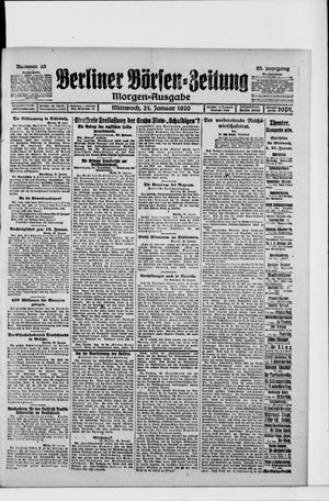 Berliner Börsen-Zeitung vom 21.01.1920