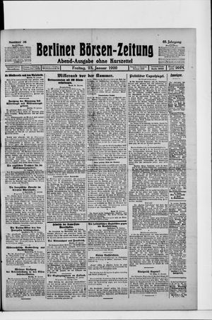 Berliner Börsen-Zeitung vom 23.01.1920