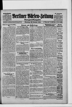 Berliner Börsen-Zeitung vom 26.01.1920