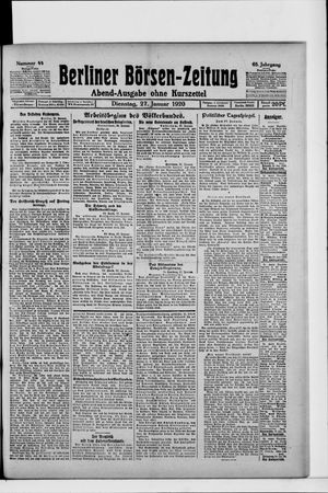Berliner Börsen-Zeitung vom 27.01.1920