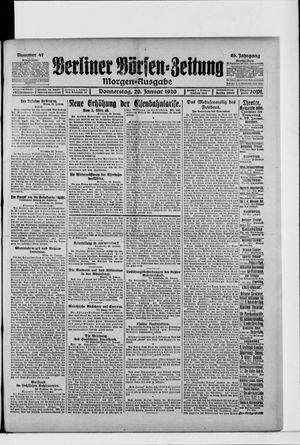 Berliner Börsen-Zeitung vom 29.01.1920