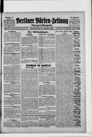 Berliner Börsen-Zeitung vom 31.01.1920
