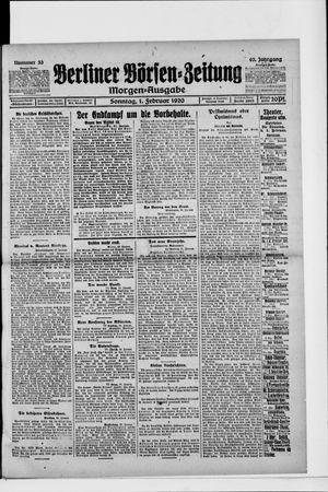 Berliner Börsen-Zeitung vom 01.02.1920