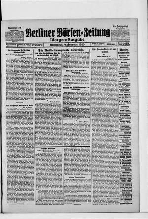Berliner Börsen-Zeitung vom 04.02.1920
