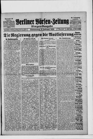 Berliner Börsen-Zeitung vom 05.02.1920