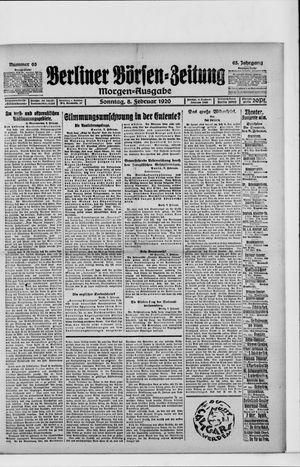Berliner Börsen-Zeitung vom 08.02.1920