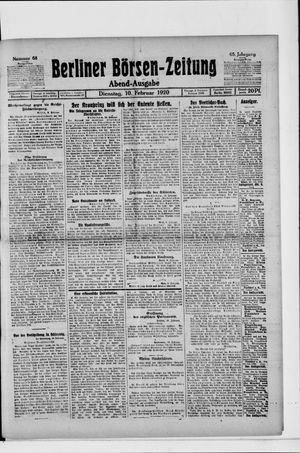 Berliner Börsen-Zeitung vom 10.02.1920