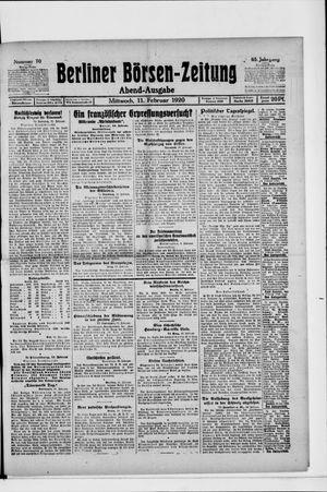 Berliner Börsen-Zeitung vom 11.02.1920